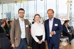 Dr. Thomas Schinko, Univ.-Prof.Dr. Barbara Prainsack und Fachverbandsobmann Mag. Alfred Harl beim CMC Masters Club.