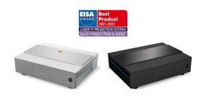 """Für die neuen 4K Laser TV Projektoren erhielt BenQ in der Kategorie """"Laser TV Projection System"""" einen EISA Award."""