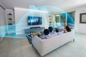 Kinoklang ins Wohnzimmer: Dazu hat Sony in die nun vorgestellte 5.1.2-Kanal Dolby Atmos Soundbar HAT-A5000 seine neuesten Audiotechnologien integriert.