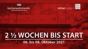 Am 6. Oktober geht es los: Das Fachmessedoppel küchenwohntrends und möbel austria geht in Salzburg live an den Start.