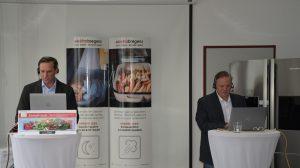 """Durch das Webinar, welches unter dem Titel """"Weißware – Technologie und Innovation für Zuhause"""" stand, führten Marcus Beck und Herbert Danecek von Elektra Bregenz."""