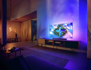 TP Vision stellt vier neue Philips OLED+ Modelle im Premium-Segment vor. Den 65 Zoll OLED+986 und den OLED+936 (im Bild) in den Größen 48, 55 und 65 Zoll. (Fotos: TP Vision)