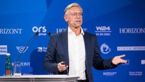 ORS-GF Michael Wagenhofer ging in seinem Vortrag auf die massiven Veränderungsprozesse am TV-Markt ein und skizzierte eine zukunftsfähige Positionierung des klassischen Rundfunks.