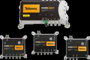 """Mit """"Overlight"""" bringt Televes ein neues System für die optische Sat-ZF-Verteilung auf den Markt. Das System besteht aus einem Wideband-LNB für den Sat-Empfang sowie verschiedenen optischen Sendern und Rückumwandlern."""