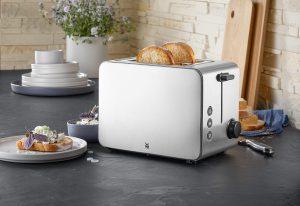 Der neue Stelio Toaster Edition soll ein optisches Highlight in jeder Küche setzen, wie WMF sagt. (Bilder: WMF)